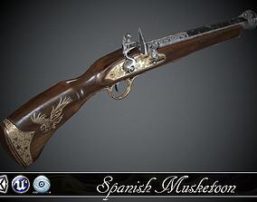 3D asset Spanish Flintlock Musketoon - model and textures