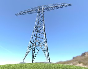 3D asset Transmission Tower 18 Meters