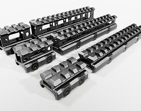 UTG Super Slim Picatinny Riser Mounts 3D model