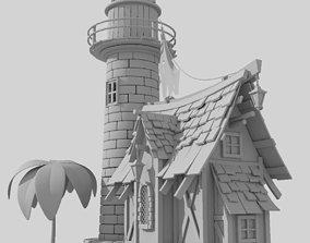 Light House 3D model city