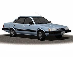 3D asset Sedan 1990s