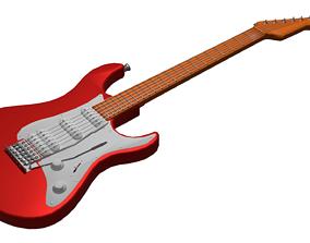 3D asset Electric guitar - Stratocaster