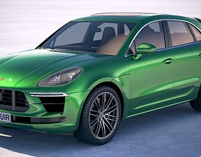 3D model Porsche Macan Turbo 2019
