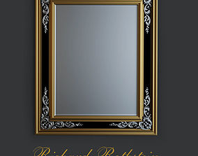 3D model Engraved Mirror with Antiqued Glass