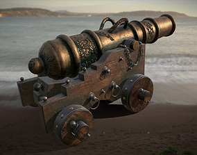 Old Naval Cannon 3D asset