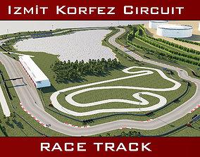 3D model Race Track - Korfez Circuit Racing Track
