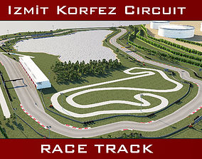 3D model Race Track - Korfez Circuit Racing Track
