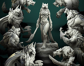 3D print model Werewolves bundle pre-supported