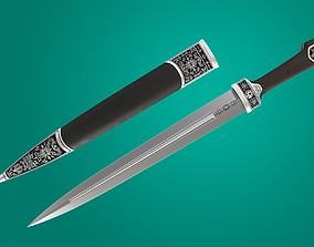 Chechen dagger - traditional weapon of the 3D model