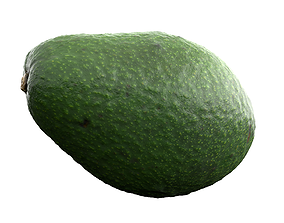 realtime Photorealistic 3D Scanned Avocado fresh