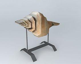 decorative fabric shell 3D model