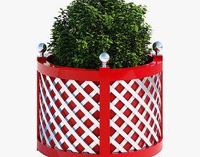 Round treillage planters 5 3D model