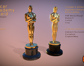 Oscar Academy Award - Low Polygon Oscars 3D asset