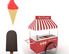 3D model Ice Cream Collection