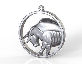 Taurus in round 3D print model