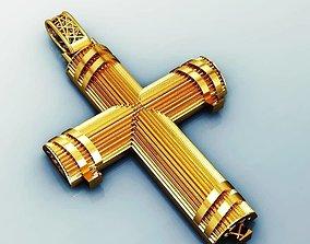 greek pendant cross 5 curch jesus 3D printable model 2