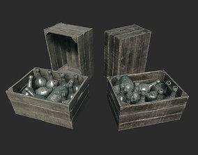 Dirty Crate With Bottles 3D model