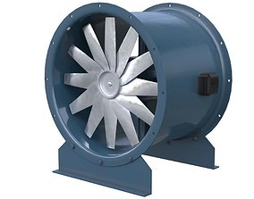 Axial Flow Fan 2 New 3D model VR / AR ready