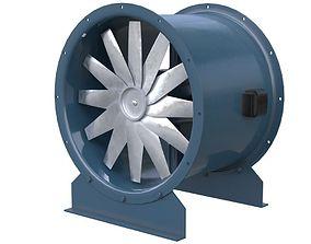 Axial Flow Fan 2 New 3D model VR / AR ready