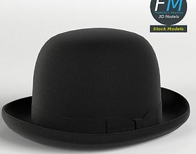 3D model PBR Bowler hat