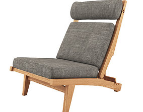 3D Low Lounge Chair by Hans J Wegner