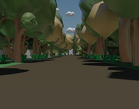 3D asset forest poly