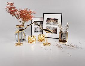 Decorative set 001 3D model