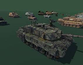3D asset Military Vehicle Pack