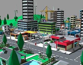 City scene pack 3D asset