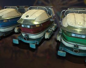 3D asset realtime Carnival Roller Coaster Carts