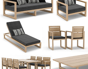 3D sofa RH Outdoor Navaro collection