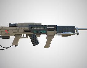Laser rifle EM-1 Railgun 3D asset