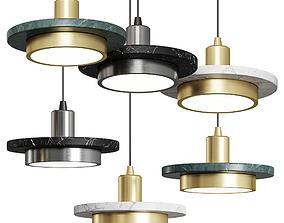 3D model Nordic Marble Pendant Lamp Modern Creative