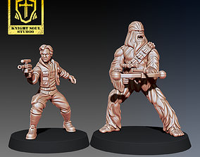 3D print model wargames PACK SMUGGLER AND BODYGUARD