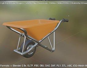 wheelbarrow 3D model Wheelbarrow 1 High-Poly Version