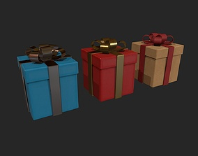 Present - Gift Box - 3 Variations 3D asset