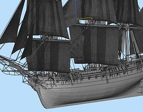 3D Hermione sailing