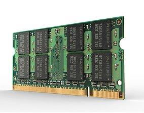 3D asset DDR2 1GB SO-DIMM Memory Module