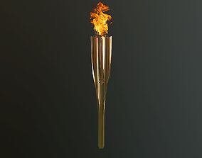 Tokyo 2020 Olympic Torch 3D model game-ready