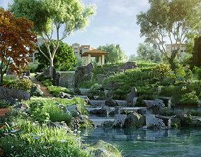 3D Community scenery 001