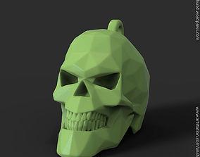 Polygonal Skull pendant vol1 for 3d print pendants