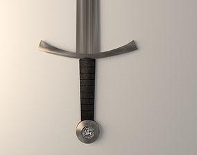 3D armor sword