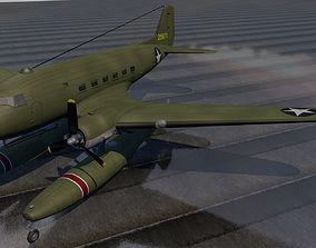 3D model Douglas XC-47C Floatplane