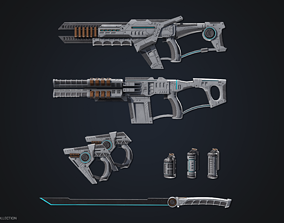 Sci fi weapon collection 3D
