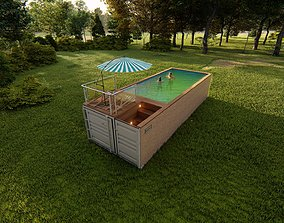 container swimming pool 3D asset