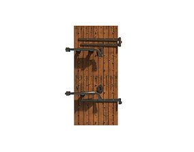 old bolted door 3D model