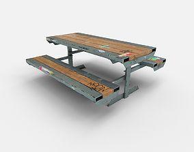 3D model Skate Park Bench PBR Textures