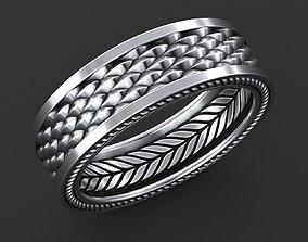 Stylish Ring with a Scale of the Dragon 3D printable model