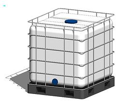 IBC Water Tank - Revit Family 3D model