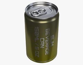 Slim beverage can 150 ml 5 oz 3D